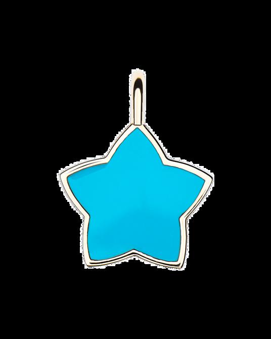 Molu Mavi Mineli Yıldız Charm