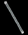 Molu Siyah Pırlantalı Hematit Mıknatıslı Bilezik
