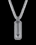Molu Siyah Pırlantalı Gümüş Kolye