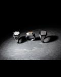 Molu Siyah Pırlantalı Siyah Mineli Gümüş Yüzük