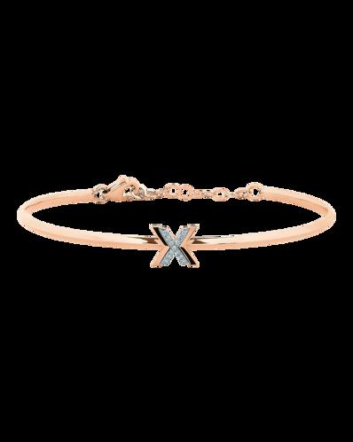 X by Molu IconX Pırlantalı Kelepçe Bilezik